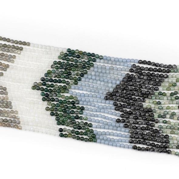 Forest Mist Gemstone Artisan Strand - 6mm Round Beads, 15 inch strand, mix #1