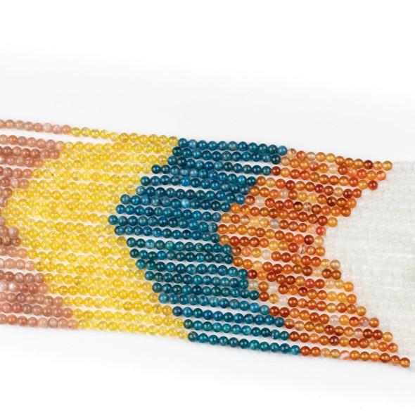 Moroccan Desert Gemstone Artisan Strand - 6mm Round Beads, 15 inch strand, mix #5