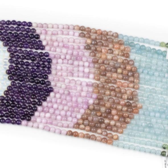 Pastel Morning Gemstone Artisan Strand - 8mm Round Beads, 15 inch strand, mix #2
