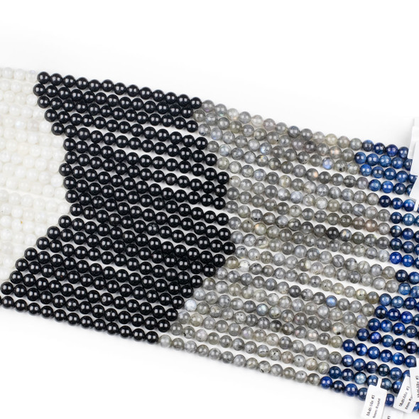 Starry Night Gemstone Artisan Strand - 8mm Round Beads, 16 inch strand, mix #3