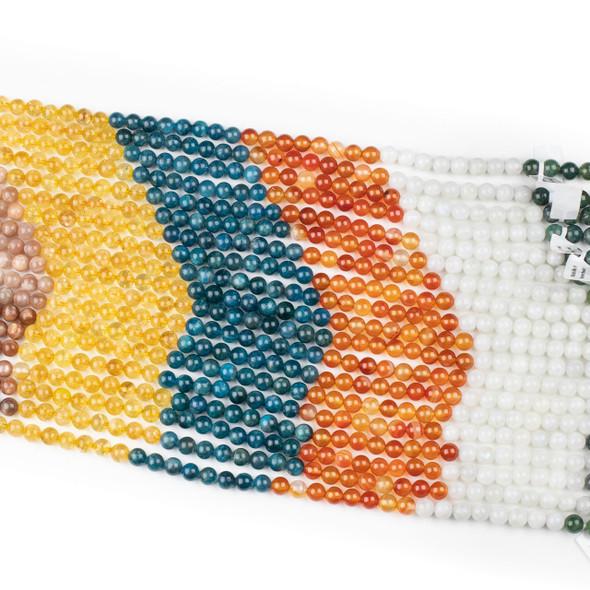 Moroccan Desert Gemstone Artisan Strand - 8mm Round Beads, 15 inch strand, mix #5