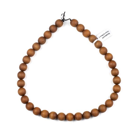 Sandalwood 12mm Round Beads - 16 inch strand