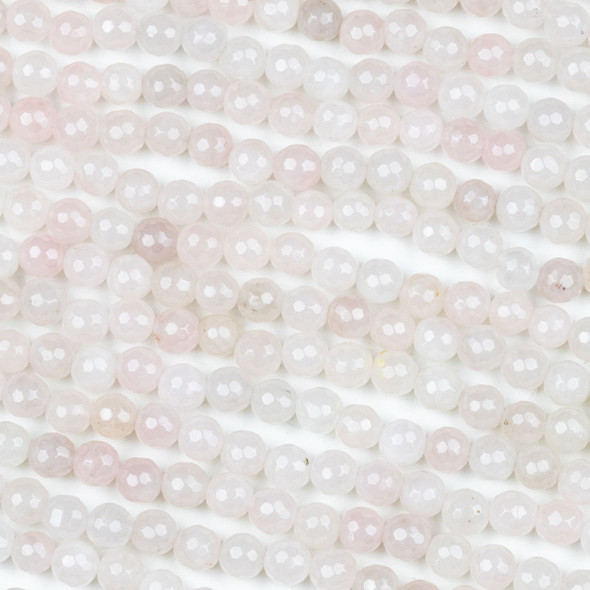 Rose Quartz 6mm Mala Faceted Round Beads - 29 inch strand