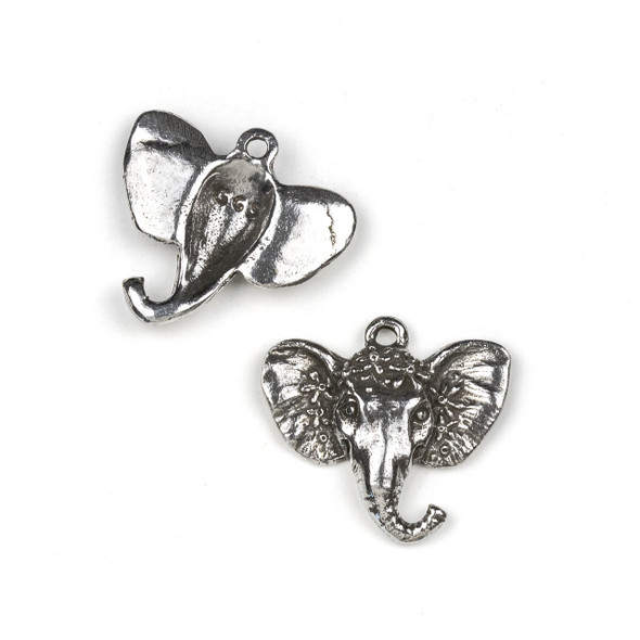 Green Girl Studios Pewter 27x30mm Royal Elephant Pendant - 1 per bag