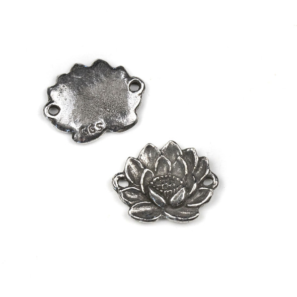 Green Girl Studios Pewter 20X25mm Lotus Link Pendant - 1 per bag