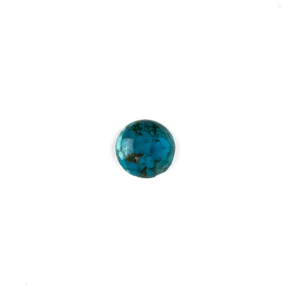 "Dark Turquoise Grade ""AB"" 14mm Coin/Button Cabochon - 1 per bag"