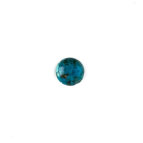 "Dark Turquoise Grade ""AB"" 14mm Coin/Button Cabochon - 1 per bag"