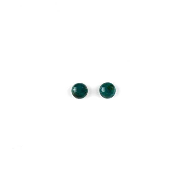 Chrysocolla 6mm Coin/Button Cabochon - 2 per bag