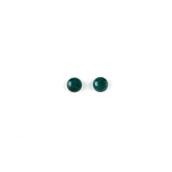 Chrysocolla 6mm Coin/Button Cabochon - 2 per bag