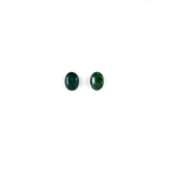 Chrysocolla 6x8mm Oval Cabochon - 2 per bag