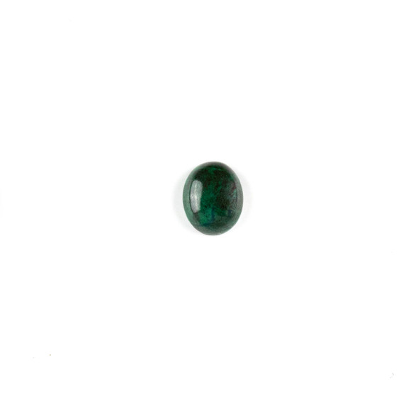 Chrysocolla 10x12mm Oval Cabochon - 1 per bag