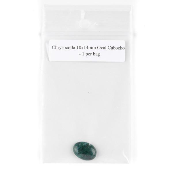 Chrysocolla 10x14mm Oval Cabochon - 1 per bag