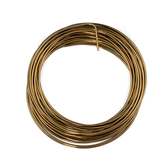 16 Gauge Coated Non-Tarnish Vintage Bronze Plated Copper Wire in a 7-Yard Coil