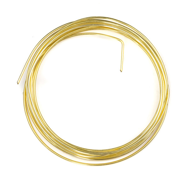 16 Gauge Coated Non-Tarnish Gold Plated Copper Wire in an 8-Foot Coil