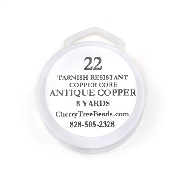 22 Gauge Coated Non-Tarnish Antique Copper Wire on an 8-Yard Spool