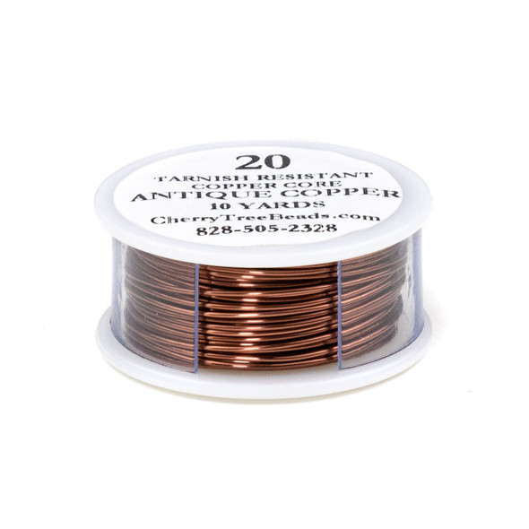 20 Gauge Coated Non-Tarnish Antique Copper Wire on a 10-Yard Spool