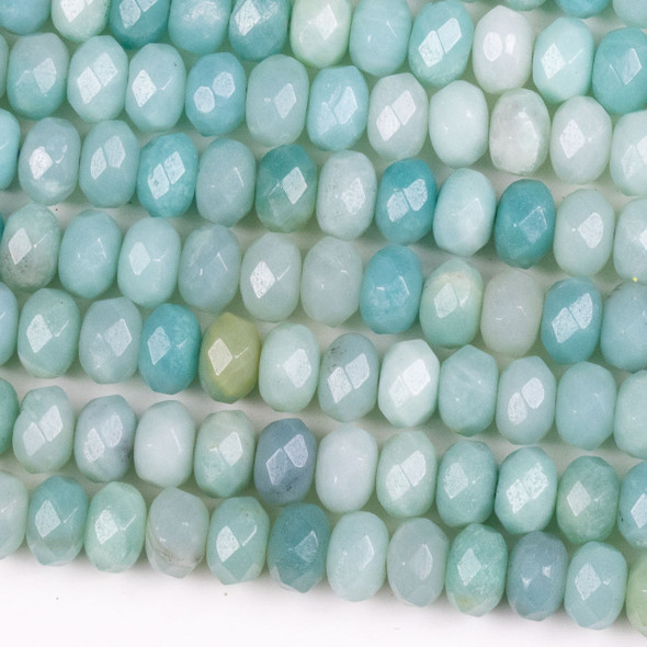 Amazonite 5x8mm Faceted Rondelle Beads - 15.5 inch strand
