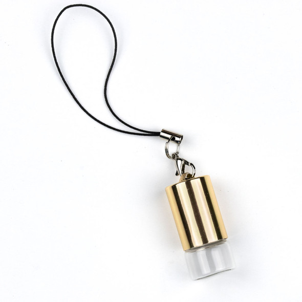 1ml Roller Ball & Glass Bottle Pendant with Loop on Gold Top - 1 per bag