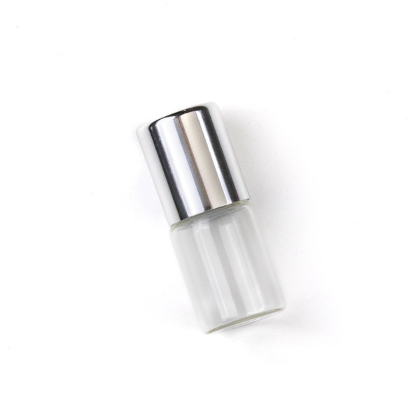 2ml Roller Ball & Glass Bottle with Silver Top - 1 per bag