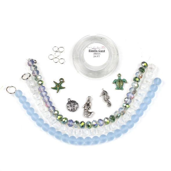 Mermaid Stretch Bracelets Kid Kit - bkit-020