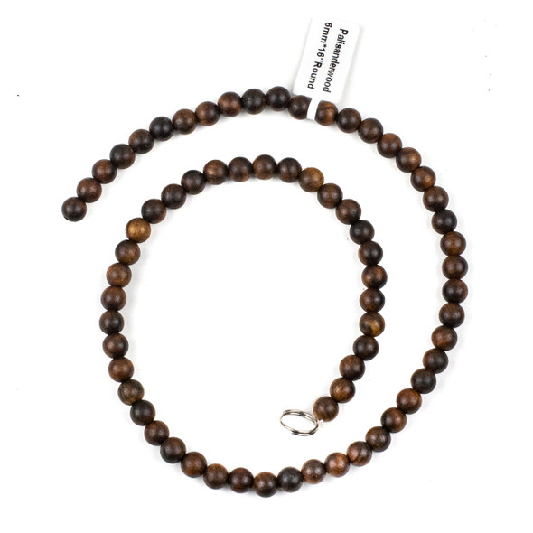 Palisander Wood 6mm Round Beads - 16 inch strand