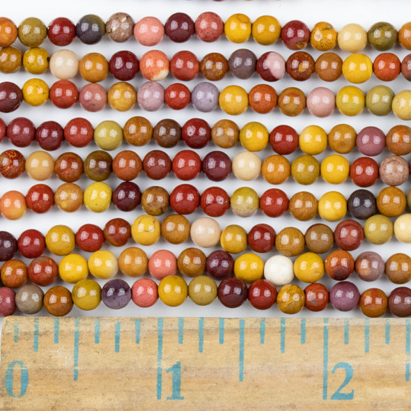 Mookaite 4mm Round Beads - approx. 8 inch strand, Set A