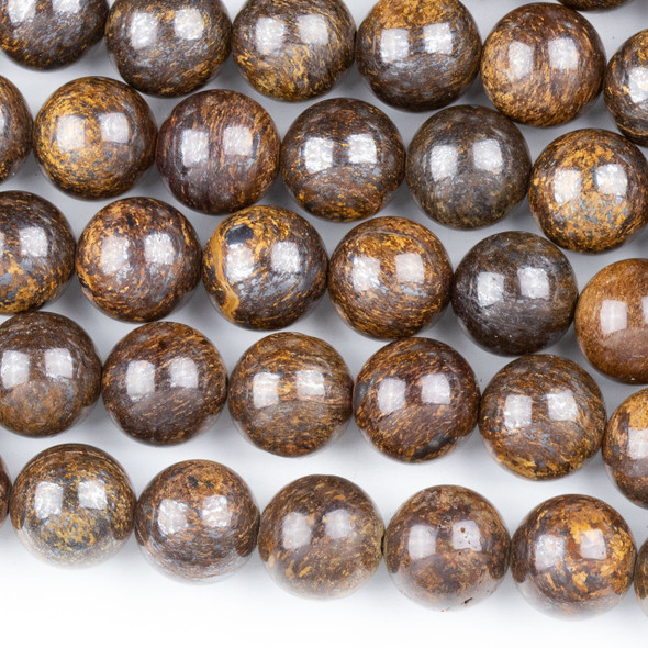 Bronzite 10mm Round Beads - approx. 8 inch strand, Set A