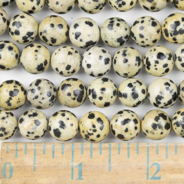 Dalmatian Jasper 10mm Round Beads - approx. 8 inch strand, Set A