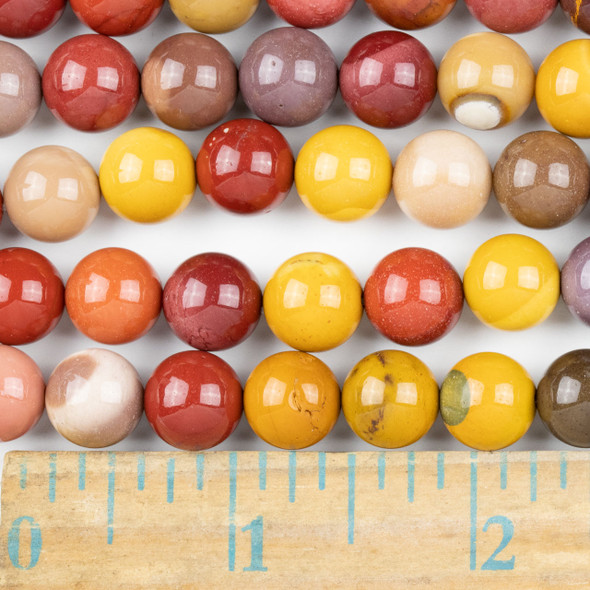 Mookaite 10mm Round Beads - approx. 8 inch strand, Set A