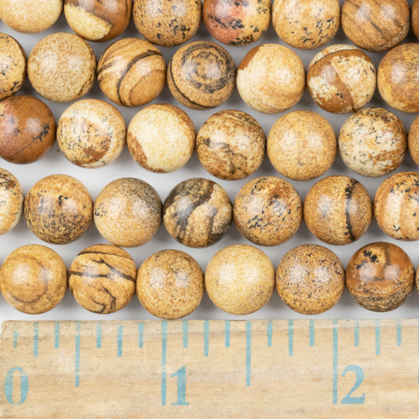 Picture Jasper 10mm Round Beads - approx. 8 inch strand, Set A