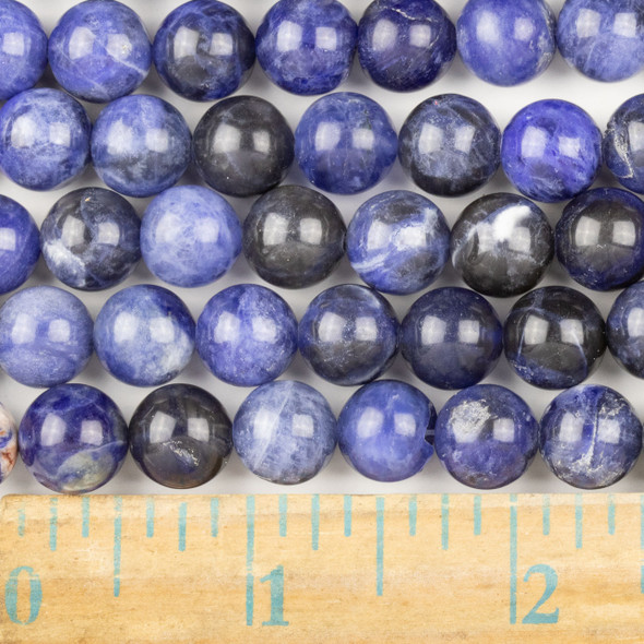 Sodalite 10mm Round Beads - approx. 8 inch strand, Set A