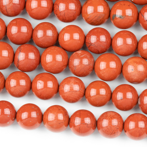 Red Jasper 10mm Round Beads - approx. 8 inch strand, Set A