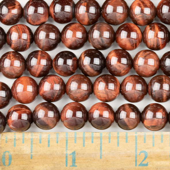 Red Tigereye 10mm Round Beads - approx. 8 inch strand, Set A