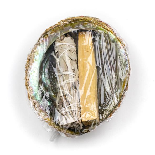 Sage, Palo Santo, and Abalone/Paua Shell Smudging Bundle