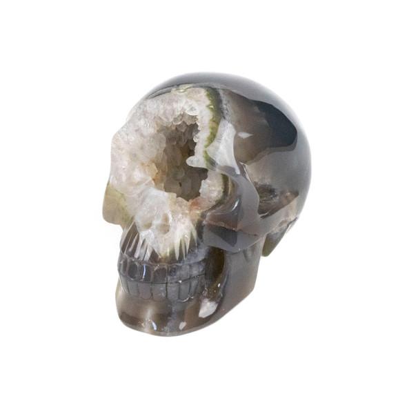"Druzy Agate Skull - #1, approximately 3.25x4.25"""