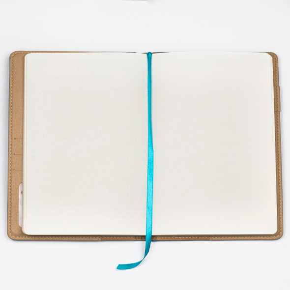 """Dotted Bullet Journal - Turquoise Blue, Stitched Hardcover, 100 pages, 5.75x8.5"""""""