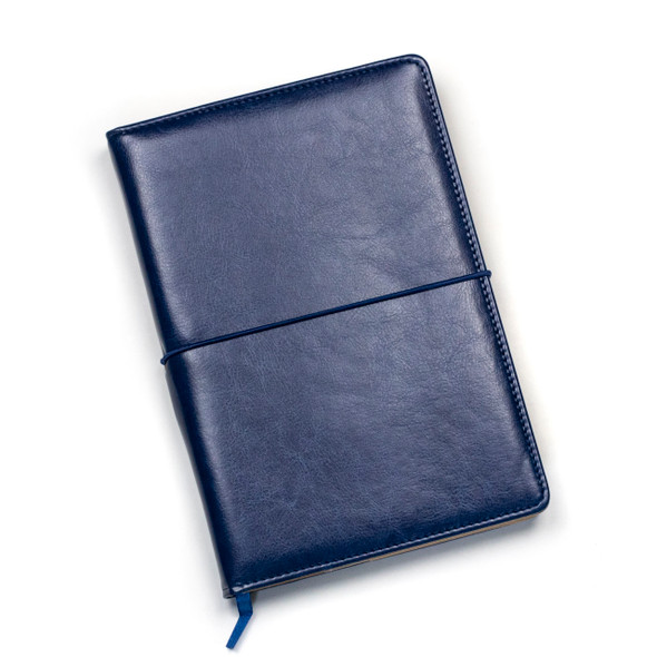 """Dotted Bullet Journal - Navy Blue, Stitched Hardcover, 100 pages, 5.75x8.5"""""""