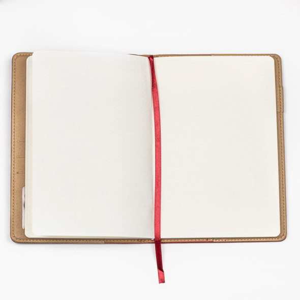 """Dotted Bullet Journal - Red, Stitched Hardcover, 100 pages, 5.75x8.5"""""""