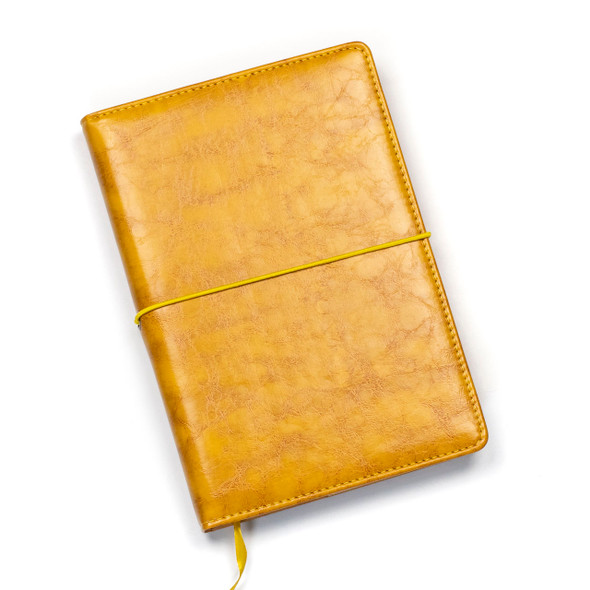 """Dotted Bullet Journal - Distressed Saffron Yellow, Stitched Hardcover, 100 pages, 5.75x8.5"""""""