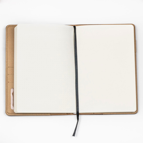 """Dotted Bullet Journal - Dark Brown, Stitched Hardcover, 100 pages, 5.75x8.5"""""""