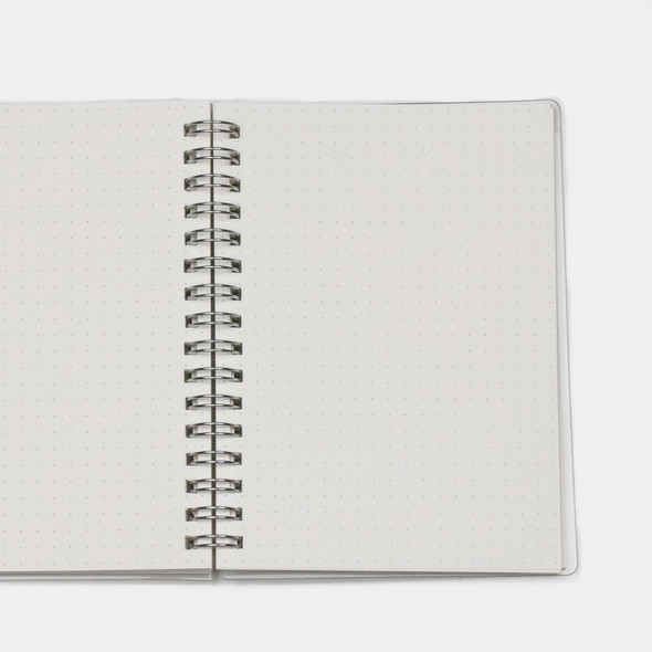 """Dotted Bullet Journal - A6, Clear Cover, 80 pages, 5.75x8.5"""""""