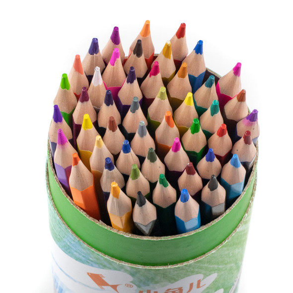 Wood Free Colored Pencils - 48 Assorted Colors
