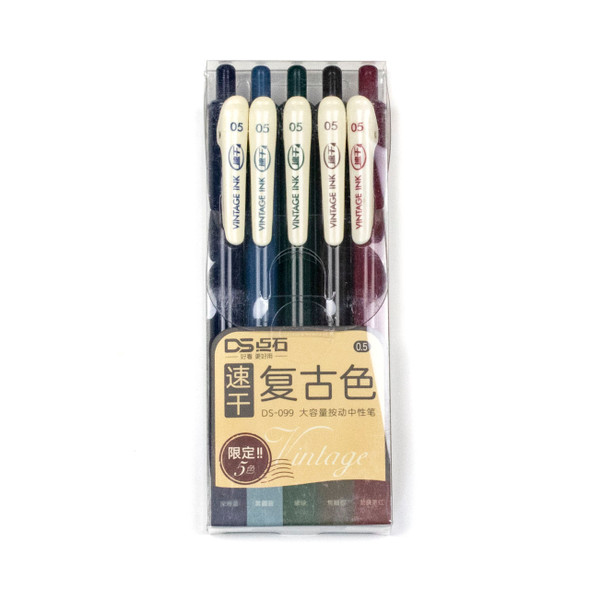Vintage Ink - 5 Assorted Cool Colors