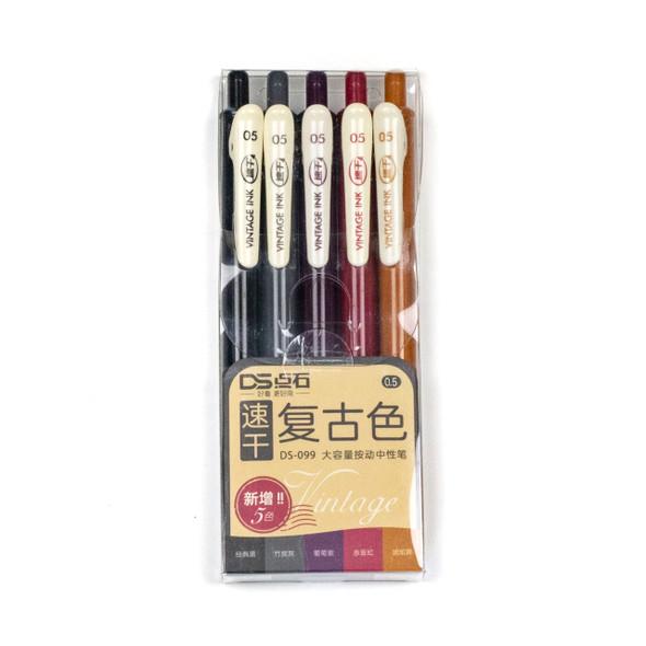 Vintage Ink - 5 Assorted Warm Colors