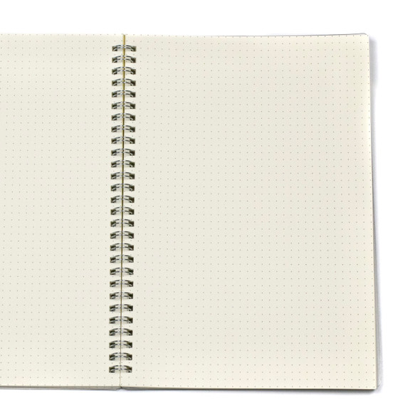"""Dotted Bullet Journal - A6, Clear Cover, 80 pages, 7x10"""""""