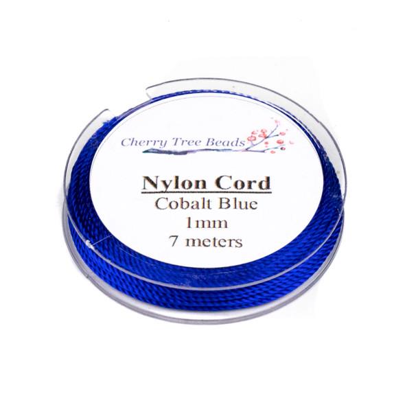 Nylon Cord - Cobalt Blue, 1mm, 7 meter spool