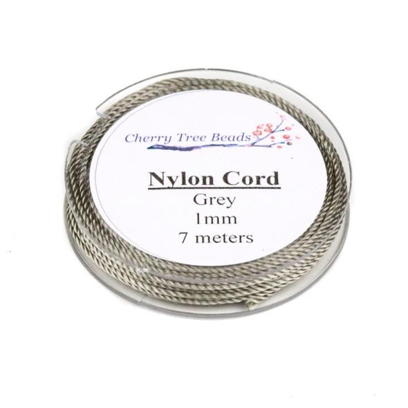 Nylon Cord - Grey, 1mm, 7 meter spool
