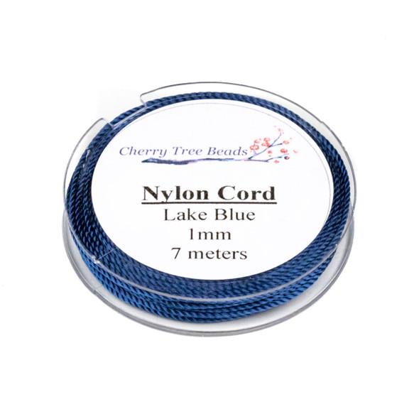 Nylon Cord - Lake Blue, 1mm, 7 meter spool
