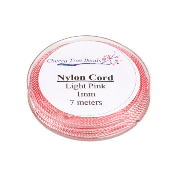 Nylon Cord - Light Pink, 1mm, 7 meter spool