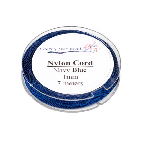 Nylon Cord - Navy Blue, 1mm, 7 meter spool